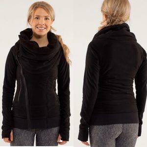 Lululemon Off The Mat Jacket Black Size 8 RARE